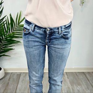 Alexander McQueen Jeans - ALEXANDER MCQUEEN boyfriend fit jeans rope seams